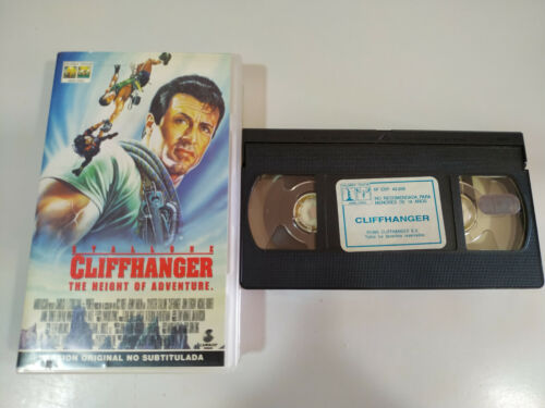 Cliffhanger The Height of Adventure Stallone - VHS Cinta Tape English