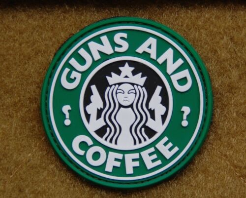 PVC Guns and Coffee Morale Patch Walking Dead Undead VELCRO® Brand FastenerArmy - 48824
