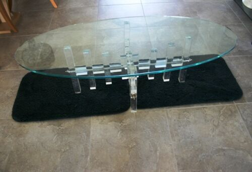 LUCITE COFFEE TABLE BASE, MID-CENTURY MODERN