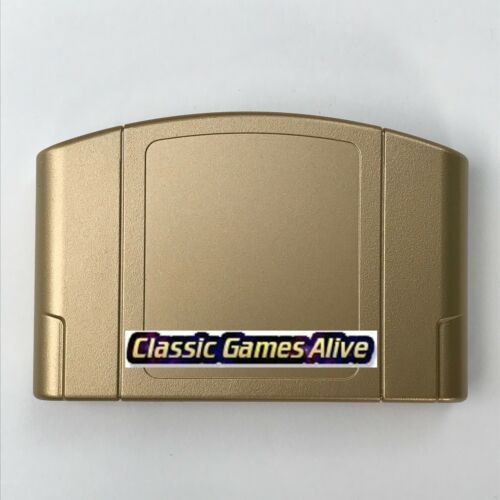 The Legend of Zelda Ocarina of Time GOLD Case Shell for N64 or NES replacement