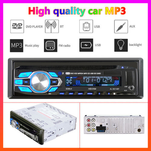 1Din Car DVD Player VCD CD MP3 Stereo Radio Player Audio Bluetooth AUX USB