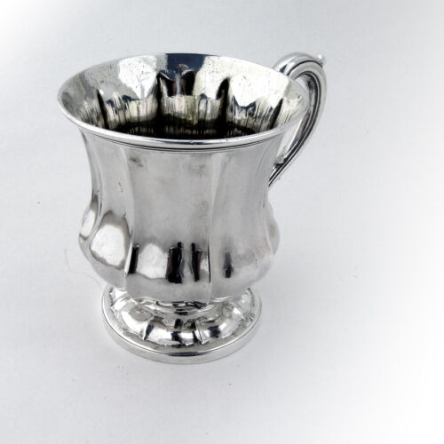 English Fluted Bellied Body Cup Mug Sterling Silver 1829 London