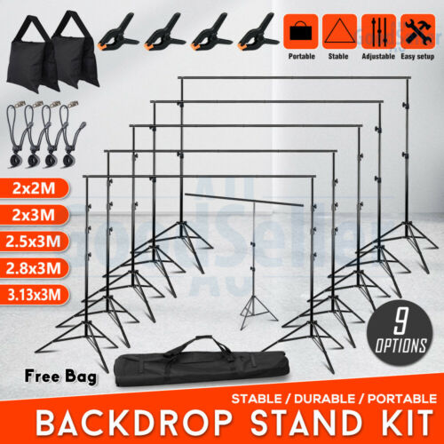 Studio Heavy Duty Backdrop Stand Screen Background Support Stand Photography KIT