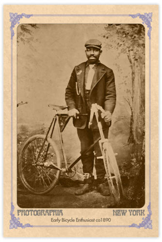 "EARLY BICYCLING DAGUERROTYPE Vintage 4"" x 6"" Photograph Reprint"