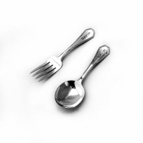 Queen Anne Plain Baby Set Dominick Haff Sterling Silver Pat 1910