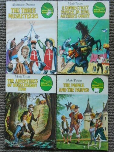 King Classics Illustrated comics x 4  from 1979 Mark Twain, Alexandre Dumas