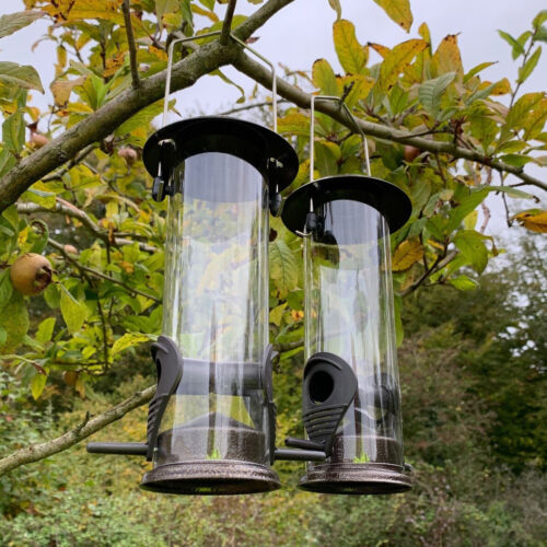 2 x Hanging Bird Seed Feeders For Selections Metal Bird Feeding Stations
