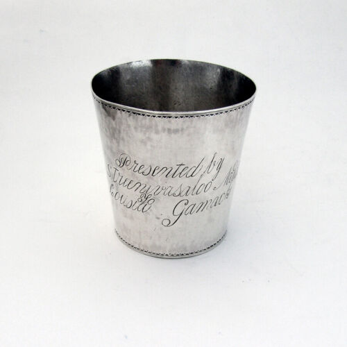 Indian Colonial Presentation Beaker Cup Sterling Silver 1880