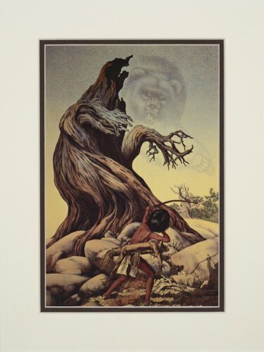 Bev Doolittle The Grizzly Tree Double Matted print fits a standard 9x12 frame
