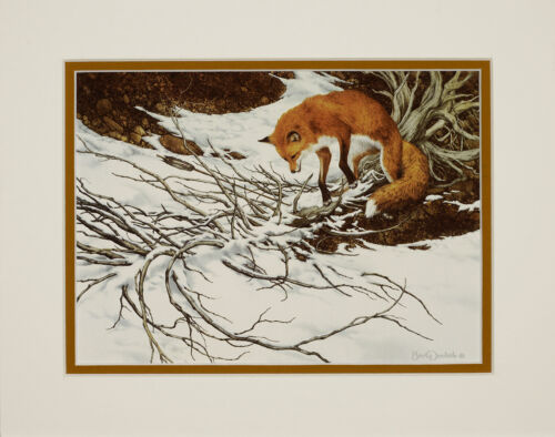 Bev Doolittle MISSED Double Matted Art print fits a standard 8x10 frame Red Fox