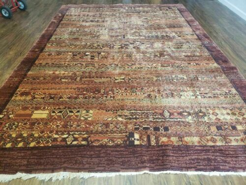 """8' x 11' 7"""" Hand Finished Couristan Modern Contemporary Wool Rug Belgium Brown"""