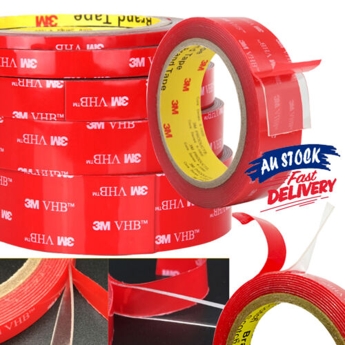 NEW 3M High strength VHB Adhesive Tape Transparent Clear Acrylic AU Double-sided