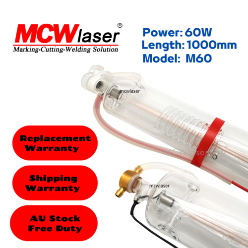 MCWlaser 60W CO2 Laser Tube 1000mm Air Express & Insurance 5-6 Days Delivery AU