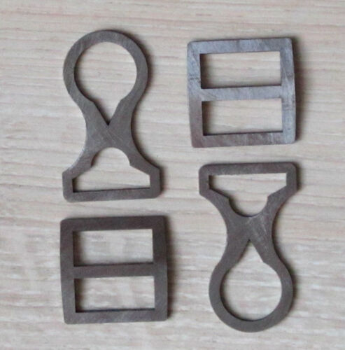 A set of buckles for the chin strap of WW1 helmets M-16, M-17, M-18. Replica!!!Germany - 156409