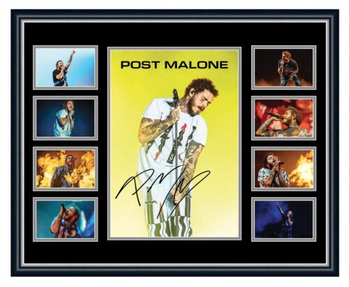 POST MALONE HOLLYWOOD'S BLEEDING 2019 SIGNED LIMITED EDITION FRAMED MEMORABILIA