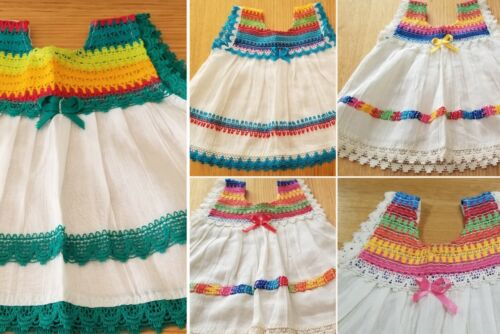Handmade in Mexico, Baby Girl Light Summer Dress, Tunic,  Cotton, Size 0