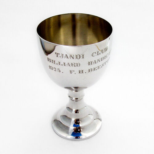 Footed Billiard Trophy Cup 830 Standard Silver 1920s