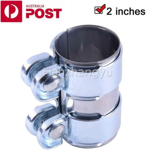 """UK STOCK 2.75/"""" 2 3//4/"""" Inch Stainless Steel Exhaust Muffler Pipe Flat Band Clamp"""