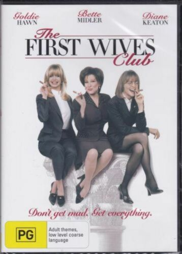 THE FIRST WIVES CLUB -Goldie Hawn Bette Midler Diane Keaton NEW MOVIE DVD AUS
