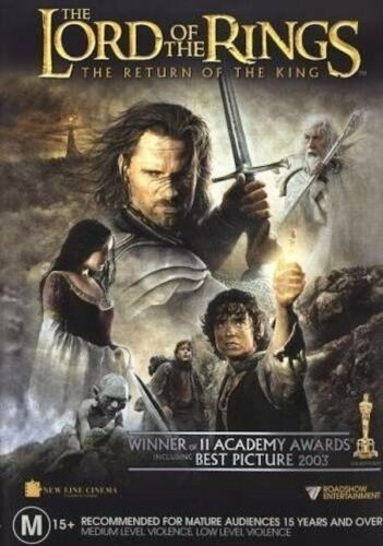 The Lord Of The Rings - The Return Of The King DVD- NEW REGION 4 DVD