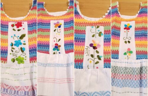 Handmade in Mexico, Embroidered, Girl's Summer Dress, Cotton, Size 8