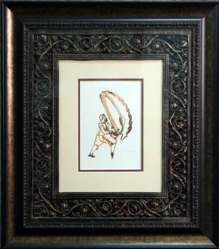 """Max ERNST Lithograph ORIGINAL Limited Ed. """"Nachwort""""  on Arches w/Archival Frame"""
