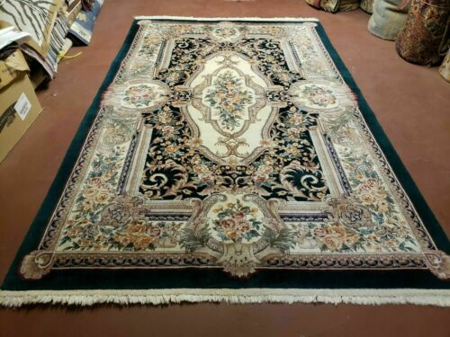 6' X 9' Vintage CHINESE Hand Made Wool Rug Aubusson Savonnerie