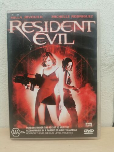 RESIDENT EVIL DVD Original First Movie 2002 Milla Jovovich, Michelle Rodriguez