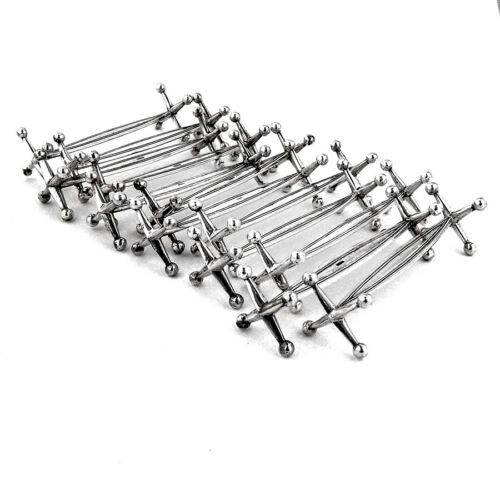 12 Knife Rests Set 800 Standard Silver