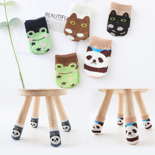 4pcs Chair Socks Table Furniture Foot Leg Sleeves Knitted Covers Floor Protector