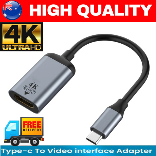 4K Type C to HDMI Adapter 30Hz USB C 3.1 Male to HDMI Female Cable FOR iphone