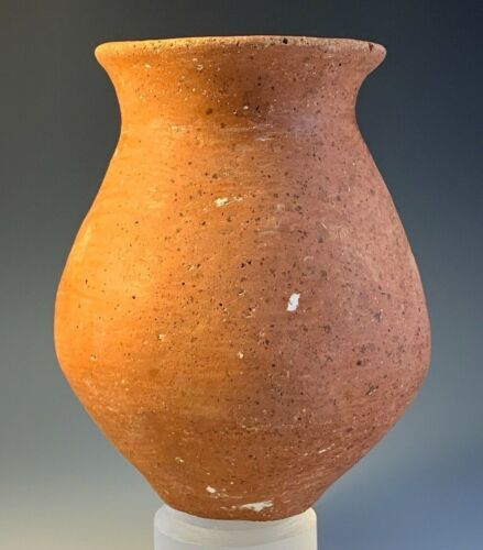 ANCIENT HOLY LAND TERRA-COTTA JAR; EARLY BRONZE AGE, circa 2500 B.C.