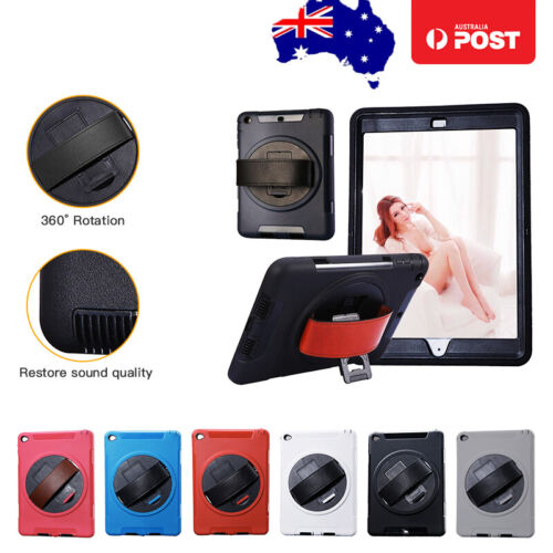 "Handheld Case Cover For Apple iPad 6 5 4 3 2 Air 1 2 9.7"" Rotating Tablet Case"