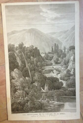 CROATIA 1802 19th CENTURY LARGE ANTIQUE ENGRAVED VIEW by CHENU