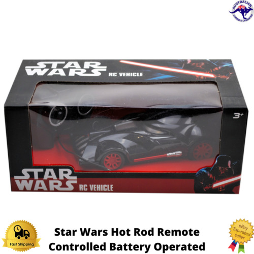 STAR WARS REMOTE CONTROL VEHICLE  HOT ROD JOYSTICK STEERING GIFT BATTERY NEW