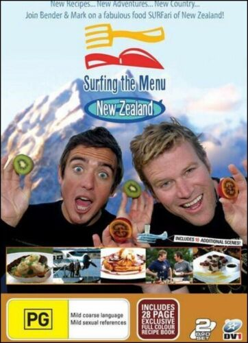 Surfing The Menu - NZ Cooking Recipes TV SERIES (2 DVD SET) NEW SEALED Region 4