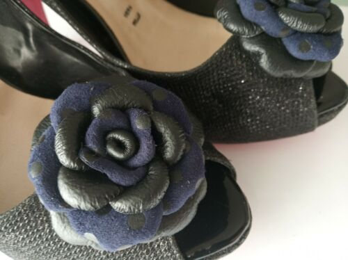 Leather Shoe Clips, Set of 2, Leather roses. Handmade