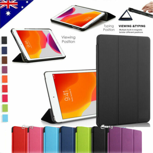"""For Apple iPad 10.2"""" 7th Generation 7 Gen 2019 Leather Smart Folio Case Cover"""