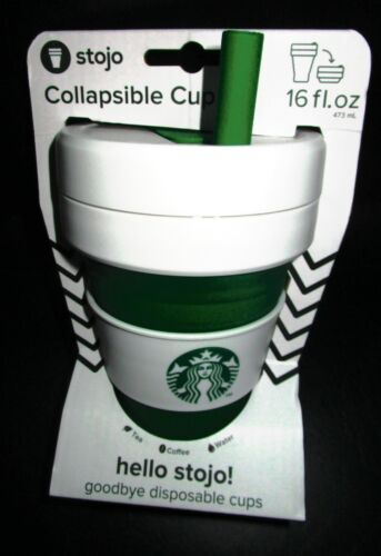 2019 Starbucks stojo cups green white free shipping