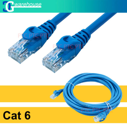 0.5m 1m 2m 3m 5m 10m 15m 20m 30m CAT6 Ethernet Network Cable Patch Lead 1000mbps