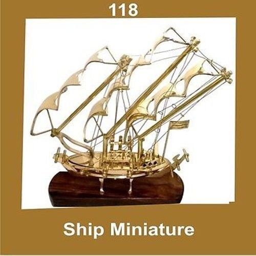 New Vintage Miniature Model Ship Brass Nautical AUD