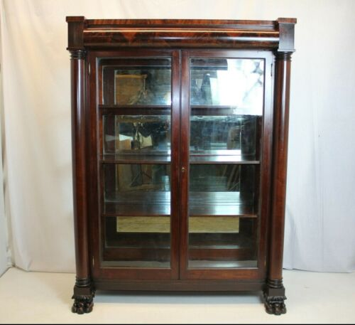 Empire China Curio Cabinet, Circa 1830s',by GEO. C. FLINT  New York.