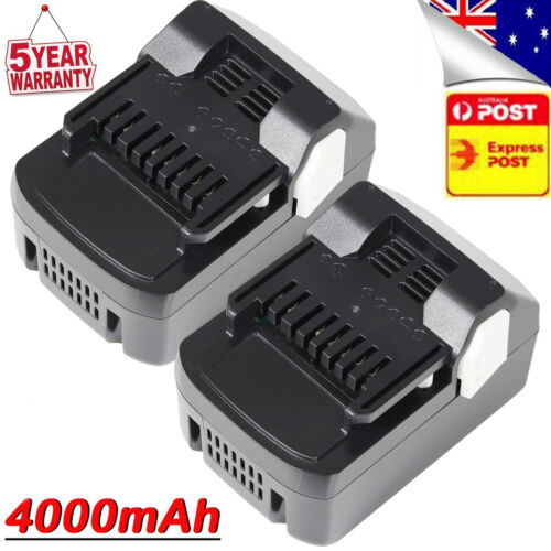 2x BSL1840 For Hitachi 18V BSL1815S BSL1850 CJ18DSL 4.0Ah Slide Lithium Battery