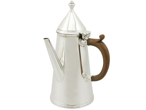 Antique 1910s George V Sterling Silver Coffee Pot