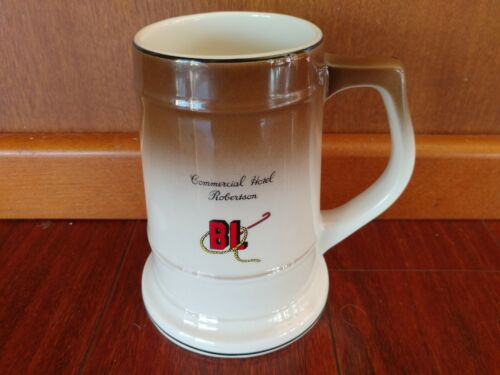 RARE COMMERCIAL HOTEL ROBERTSON SOUTH AFRICA BEER STEIN MUG   CONTINENTAL CHINA