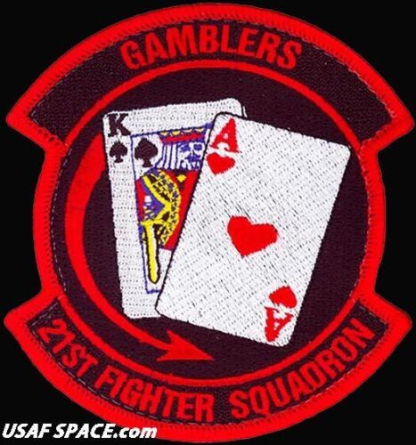 USAF 21ST FIGHTER SQUADRON -F-16 - GAMBLERS -Luke AFB, AZ- ORIGINAL PATCH on VELOther Exploration Missions - 1346