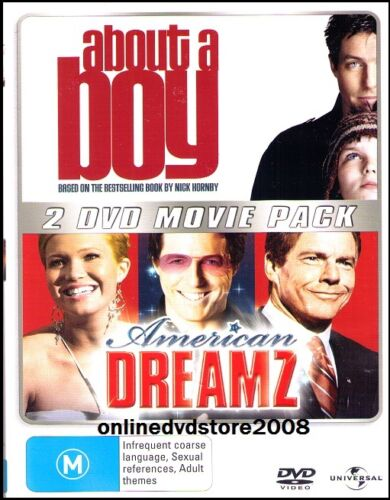 ABOUT A BOY - AMERICAN DREAMZ - Hugh GRANT Double MOVIE (2 DVD SET) NEW SEALED