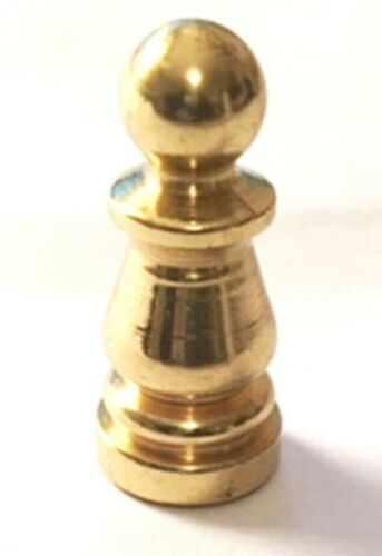 """1"""" BRASS FINIAL, BURNISHED AND LACQUERED FINISH 1/4-27F,  PART 10967"""