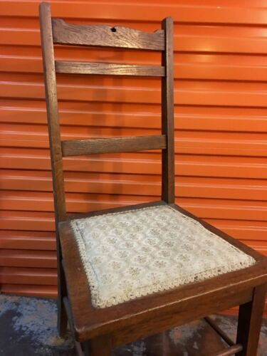 Antique c1900's Federation English Oak Bedroom Desk Chair No 2