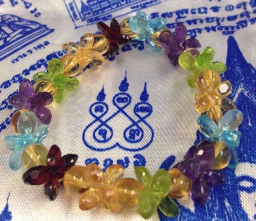 BRACELET REAL LUCKY CRYSTAL NAGA STONE BANGLE RICH  SEX THAI AMULET TALISMAN